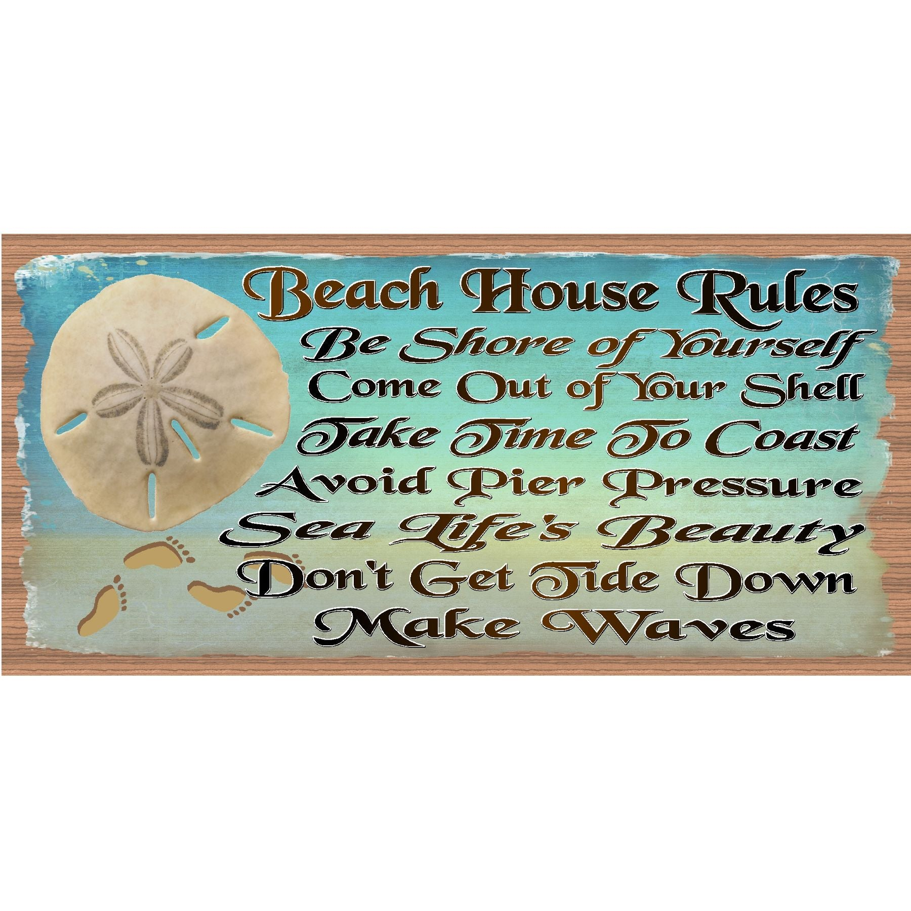 Beach Wood Signs -Beach House Rules- GS 1774- Beach Plaque