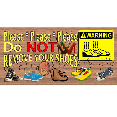 Shoe Wood Signs -Please Remove Shoes - GS 1875- Shoe Plaque