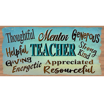 Teacher Wood Signs - GS 2261 - Teacher Wood plaque