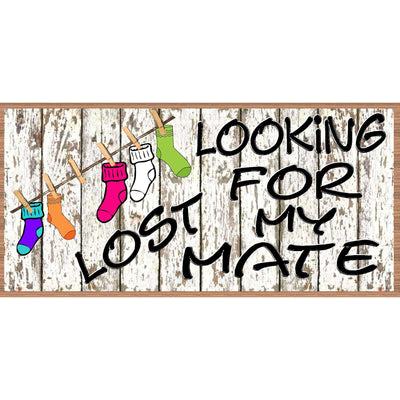 Lost Socks Wood Signs - GS 2279- Sock Sign - Sock Plaque
