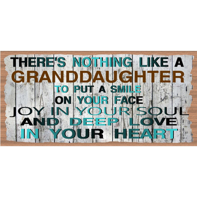 Granddaughter Wood Signs - Granddaughter Wood Plaque GS 2286