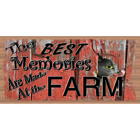 Farm Wood Signs - The Best Memories Are Made At the Farm - GS 2289- Barn Plaque - Farm Sign