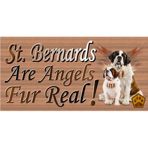 St Bernard Sign - Dog - GS 2387 - Wood sign with Sayings - St Bernard- Rustic Wood Sign -Dog Wood Wall Decor