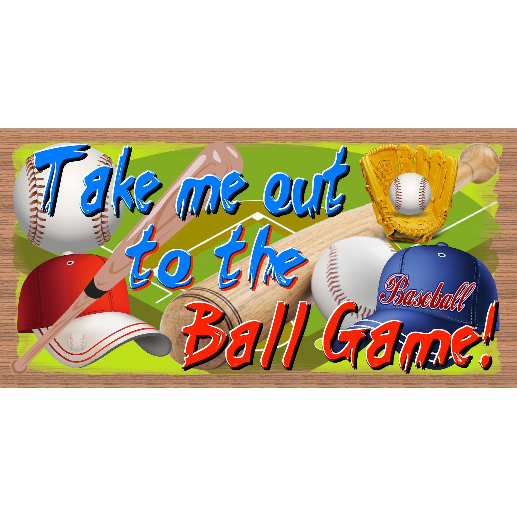Baseball Wood Signs - Take Me Out to the Ballgame - GS 239