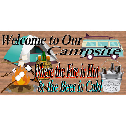 Camping Wood Signs - RV -Camping Sign - Camper plaque-RV Wood Sign-Welcome To Our Campsite - GS 2469 Wood Plaque