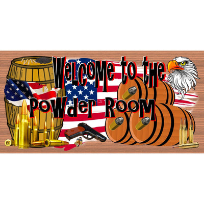 Patriotic Wood Signs - Patriotic Plaques - Welcome to the Powder Room - GS 2492