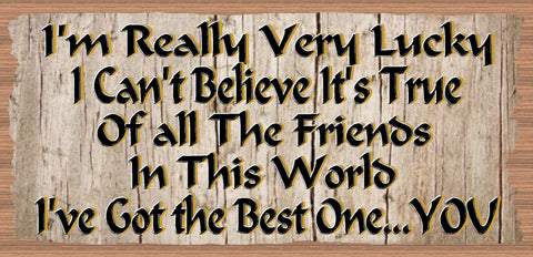 Friend Wood Signs -Best Friend Plaque- GS 2501- Friendship Plaque