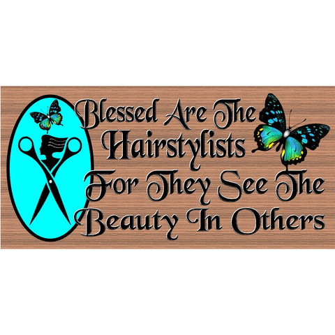 Hairdresser Wood Signs - Hairstylist Plaque -  GS 2514  -Stylist sign- Stylist Plaque