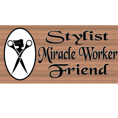 Hairdresser Wood Signs - Hairstylist Plaque -  GS 2517 -Stylist sign- Stylist Plaque