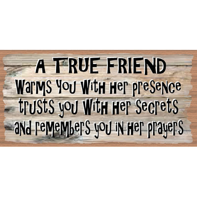 Friendship Wood Signs -Spiritual Plaque -GS 2533 - Friend Sign