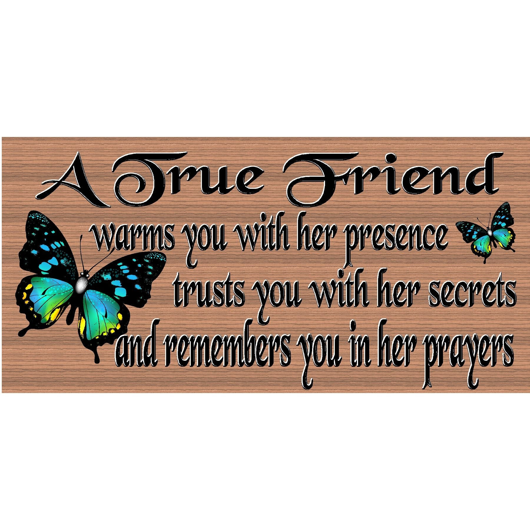 Friendship Wood Signs -Spiritual Plaque -GS 2534 - Friend Sign