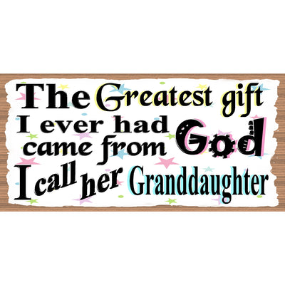 Granddaughter Wood Signs - Granddaughter Wood Plaque GS 2549