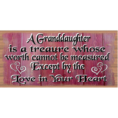 Granddaughter Wood Signs - Granddaughter Wood Plaque GS 2555