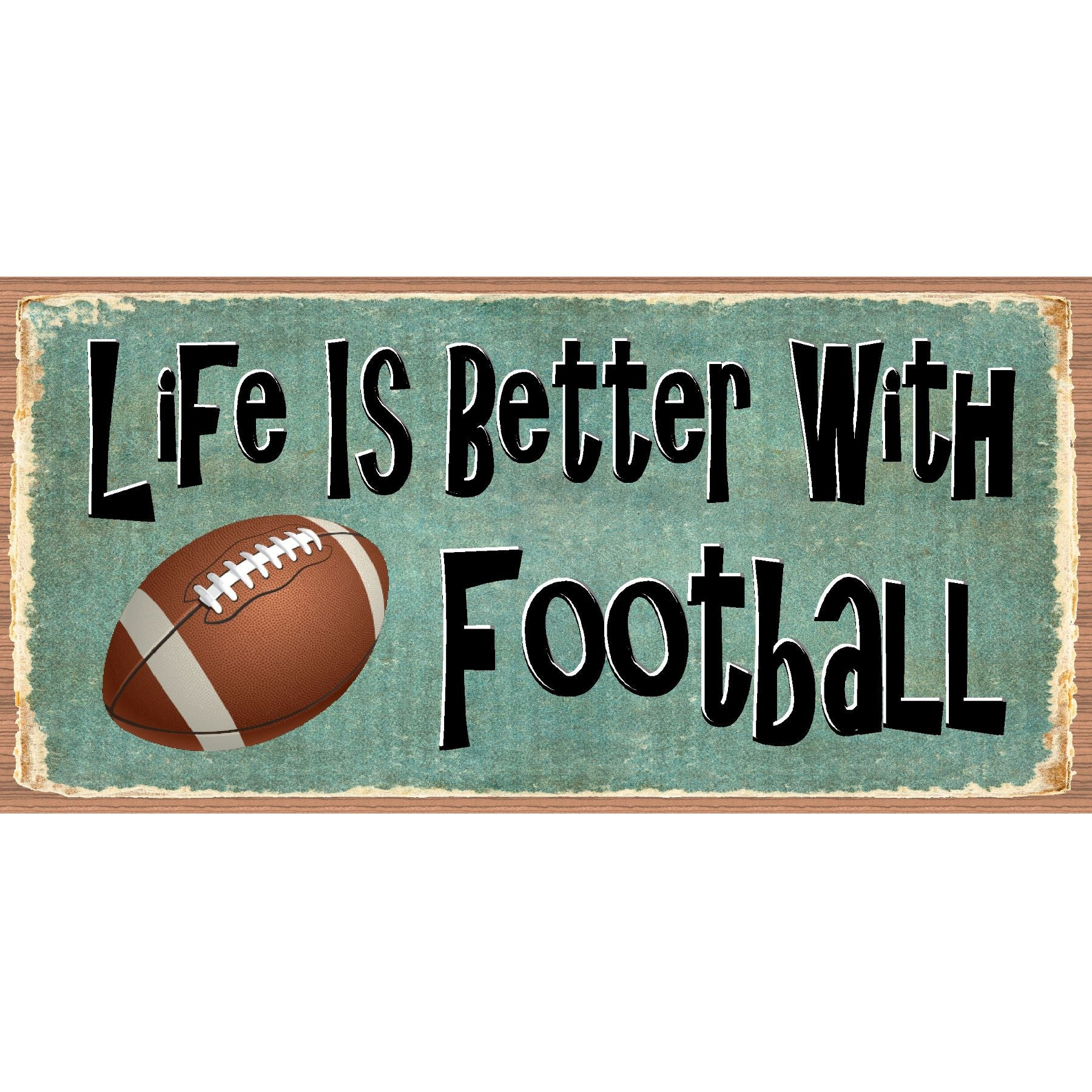 Football Wood Sign - Football Plaque - GS 2555