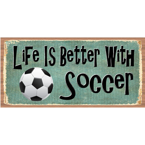 Soccer Wood Sign - Soccer Plaque - GS 2556