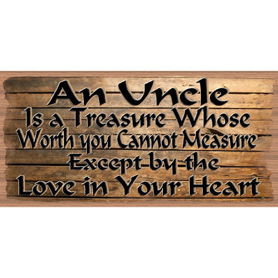 Uncle Wood Signs - Uncle Plaque - GS 2562-  Wood sign Uncle