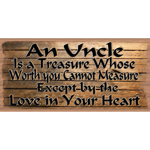 Uncle Wood Signs - Uncle Plaque - GS 2562-  Wood sign Uncle, Family wood sign uncle