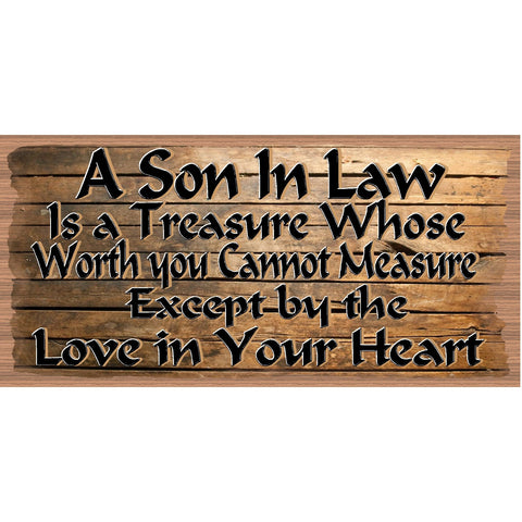 Son In Law Wood Signs - Son In Law Plaque - Primitive Son In Law sign- GS-2563 - Son In Law Gift