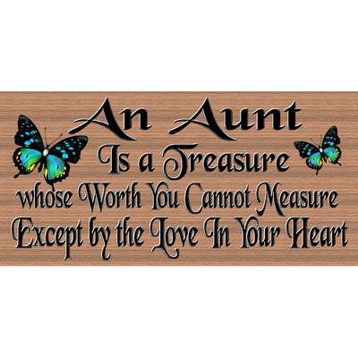 Aunt Wood Signs - Aunt plaque - GS 2568 - GiggleSticks