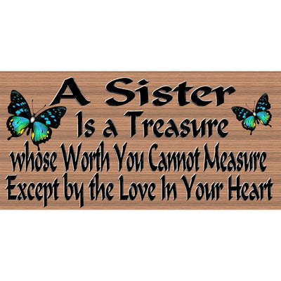 Sister Wood Signs - Sister Plaque  -GS 2570 -Sister wood sign
