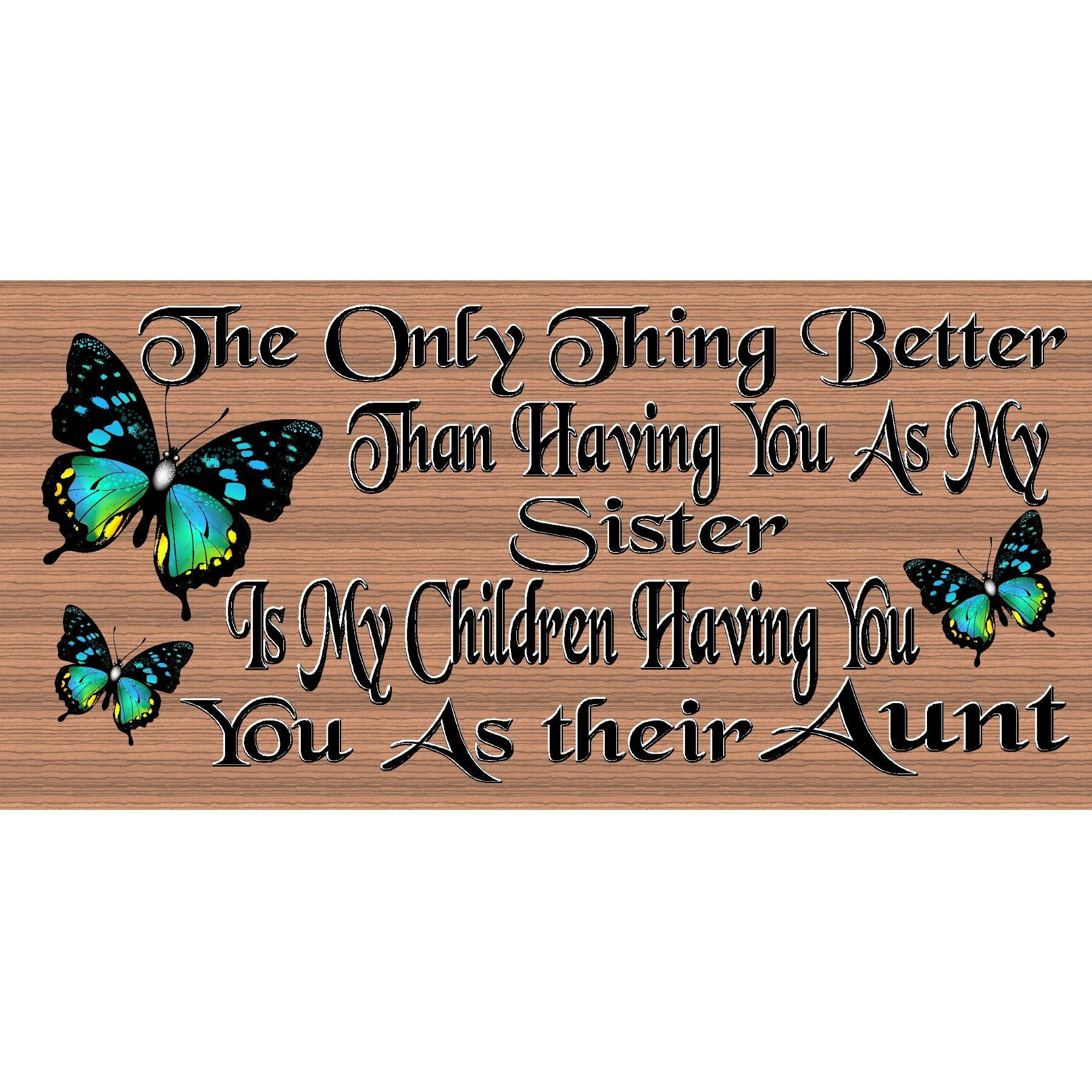 Aunt Wood Signs - Aunt plaque - GS 2577- GiggleSticks