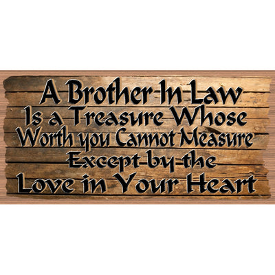 Brother In Law Wood Signs - Brother-In-Law Plaque - GS 2595