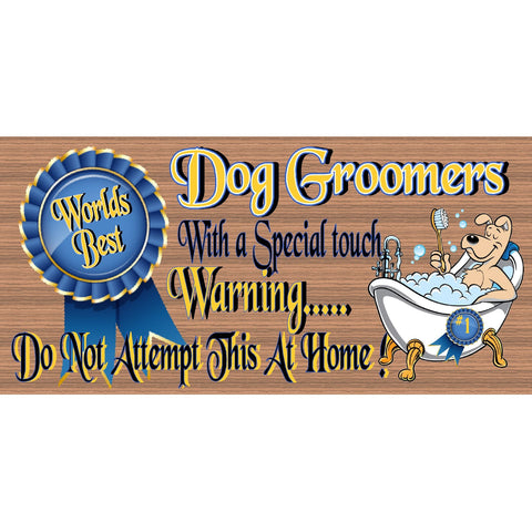 Dog Wood Signs - Dog Groomer sign -  GS 2657 - Veterianary sign