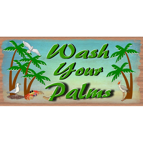 Bathroom Sign - Wash Your Palms -GS 2663