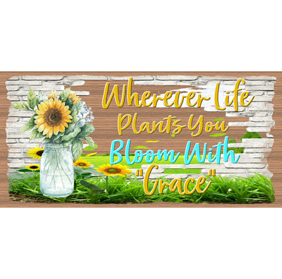 Inspirational Wood Signs - Bloom With Grace - GS 2866