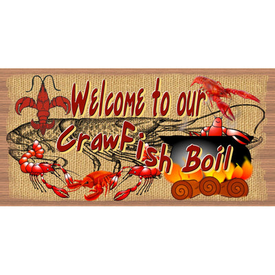Crawfish Wood Signs - Cajun Welcome - GS 2700 - Crawfish Boil