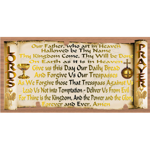 Lords Prayer Wood Signs -Spiritual Plaque -GS 2701- Scripture Sign