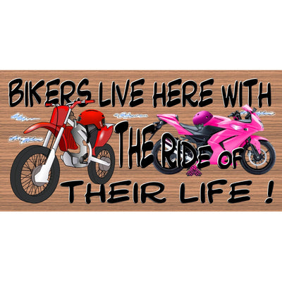 Motorcycle Sign - GS 2713 Dirt Bike Plaque