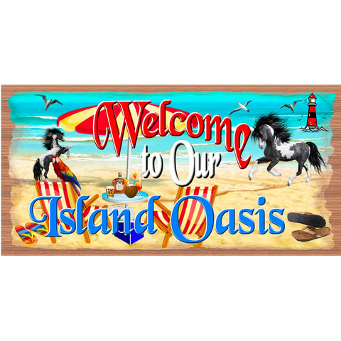 Beach Wood Signs -Island Oasis - GS 2746