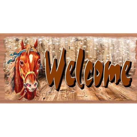 Western Welcome sign -  Country Plaque- GS 2747