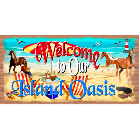 Beach Wood Signs -Island Oasis - GS 2750