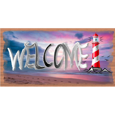 Welcome Lighthouse Sign -Lighthouse Plaque - GS 2752
