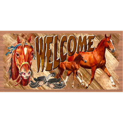 Western Welcome sign -  Country Plaque- GS 2756
