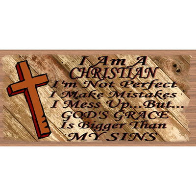 Spiritual Wood Signs  I'm a Christian - GS 2829
