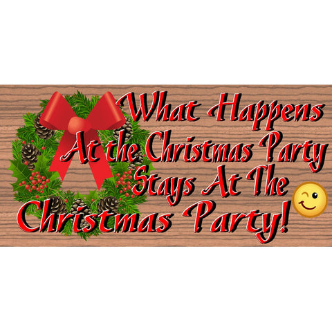 Christmas Wood Signs - Christmas Party -GS 2867- Christmas Plaque