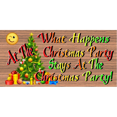 Christmas Wood Signs - Christmas Party -GS 2868- Christmas Plaque
