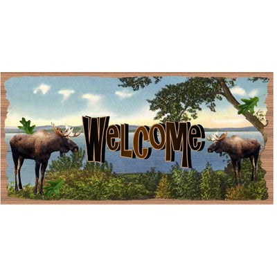 Lake Wood Signs- Welcome Sign -GS 2892 -Moose Plaque