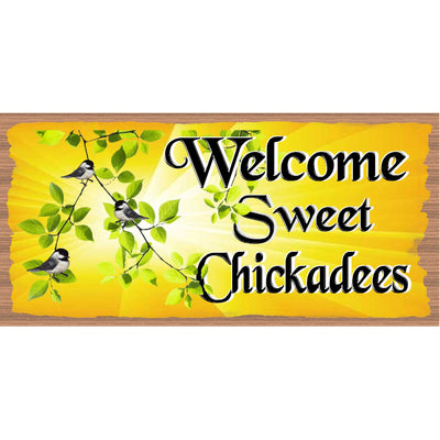 Chickadee Wood Signs-  -GS 2893 - Chickadee Plaque