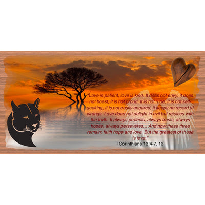 Spiritual Wood Signs -Spiritual Plaque -GS 2901 -Love is Patient Love is Kind