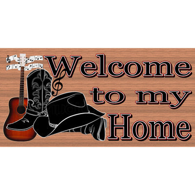 Country Wood Signs -Welcome Country Music- GS 2912