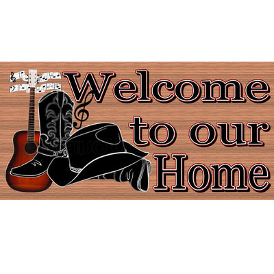 Country Wood Signs -Welcome Country Music- GS 2913