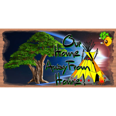 Camping Wood Signs - Our Home Away from Home-GS 2940- Tent Sign