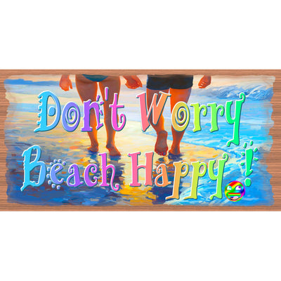 Beach Wood Signs -Don't Worry Beach Happy -GS 2948