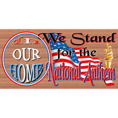 Patriotic Wood Signs - Patriotic Plaques - We Stand - GS 2952