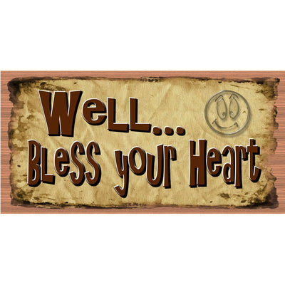 Heart Wood Signs - Well Bless Your Heart - GS 2954