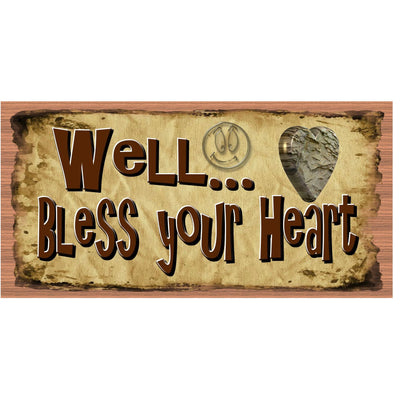 Heart Wood Signs - Well Bless Your Heart - GS 2955